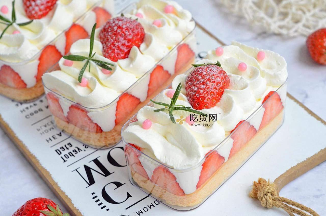 草莓盒子蛋糕的做法 步骤20