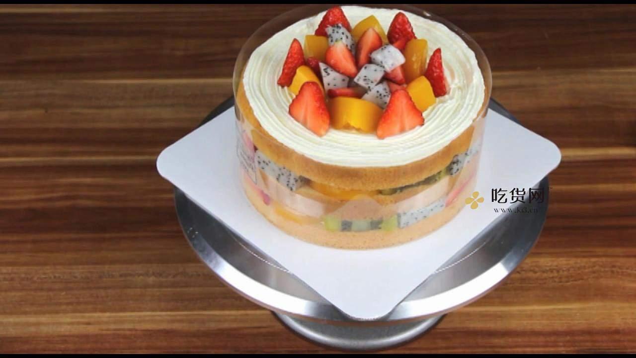 简单美味水果裸蛋糕 无需裱花技巧【视频教学】的做法 步骤17