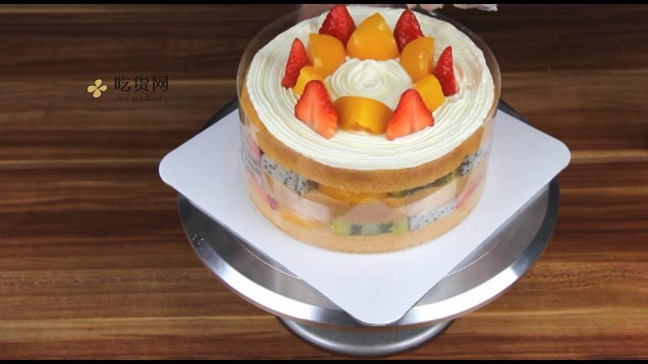 简单美味水果裸蛋糕 无需裱花技巧【视频教学】的做法 步骤16