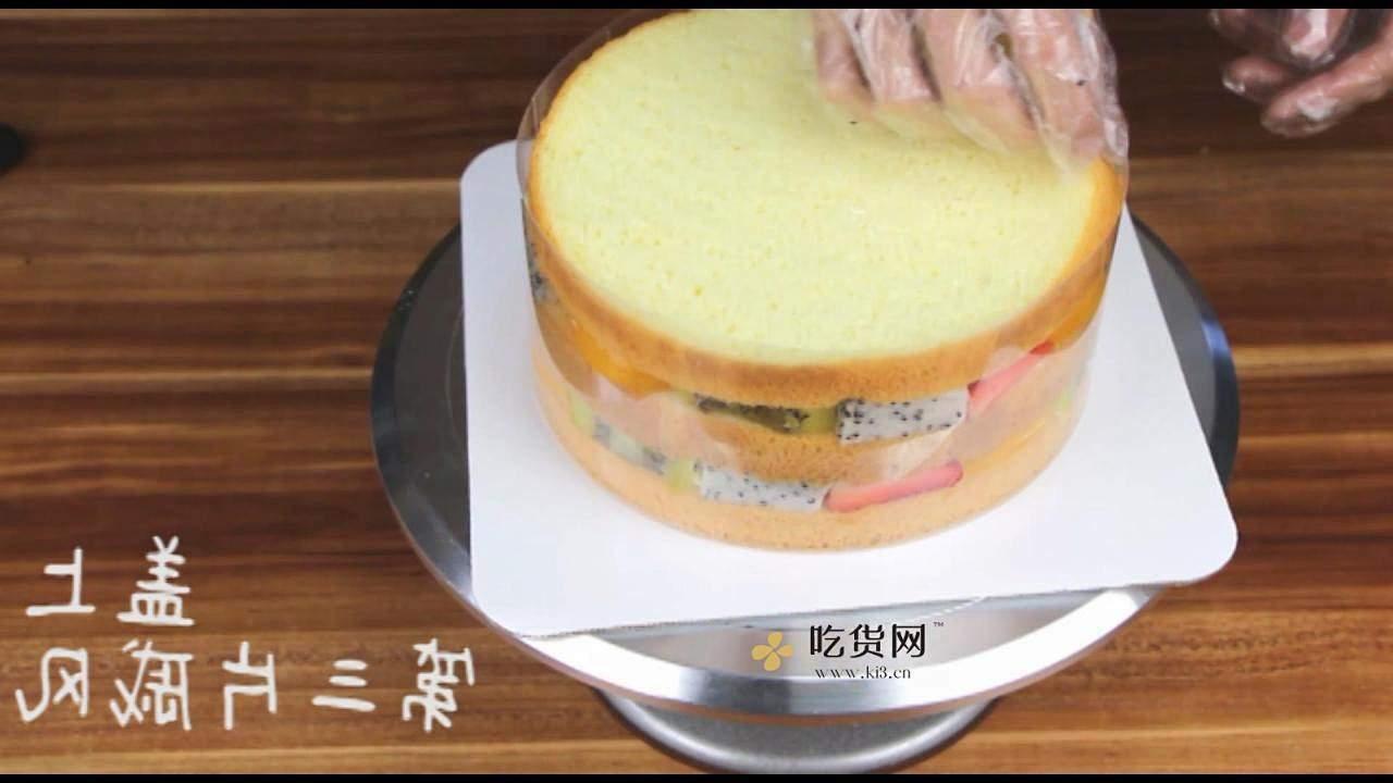 简单美味水果裸蛋糕 无需裱花技巧【视频教学】的做法 步骤13