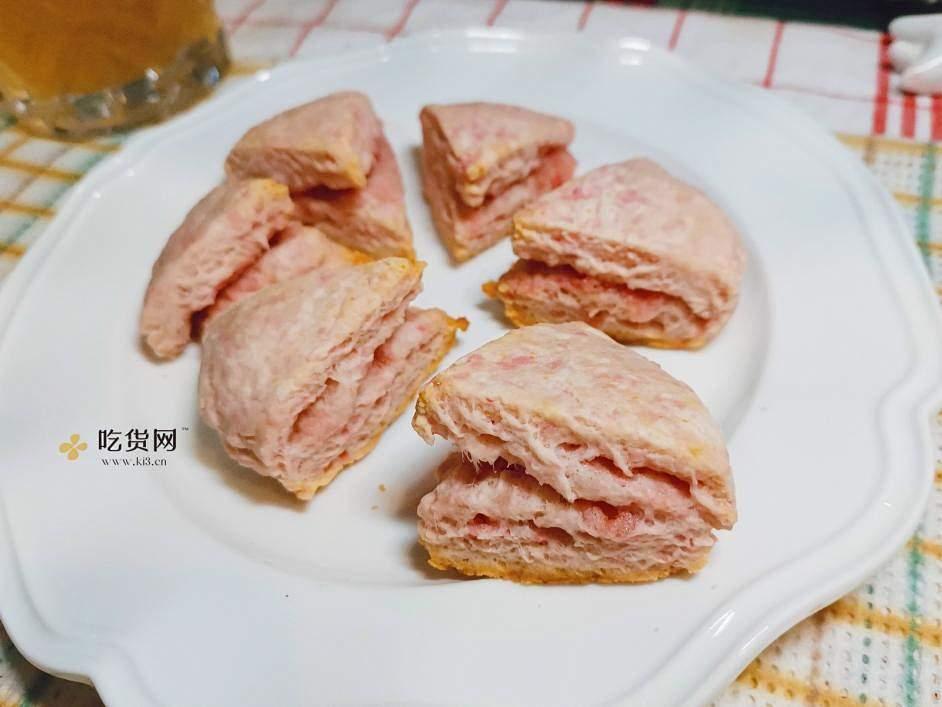 樱花草莓奥利奥夹心司康的做法 步骤9