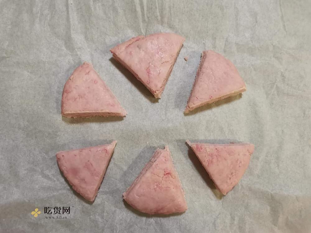 樱花草莓奥利奥夹心司康的做法 步骤7