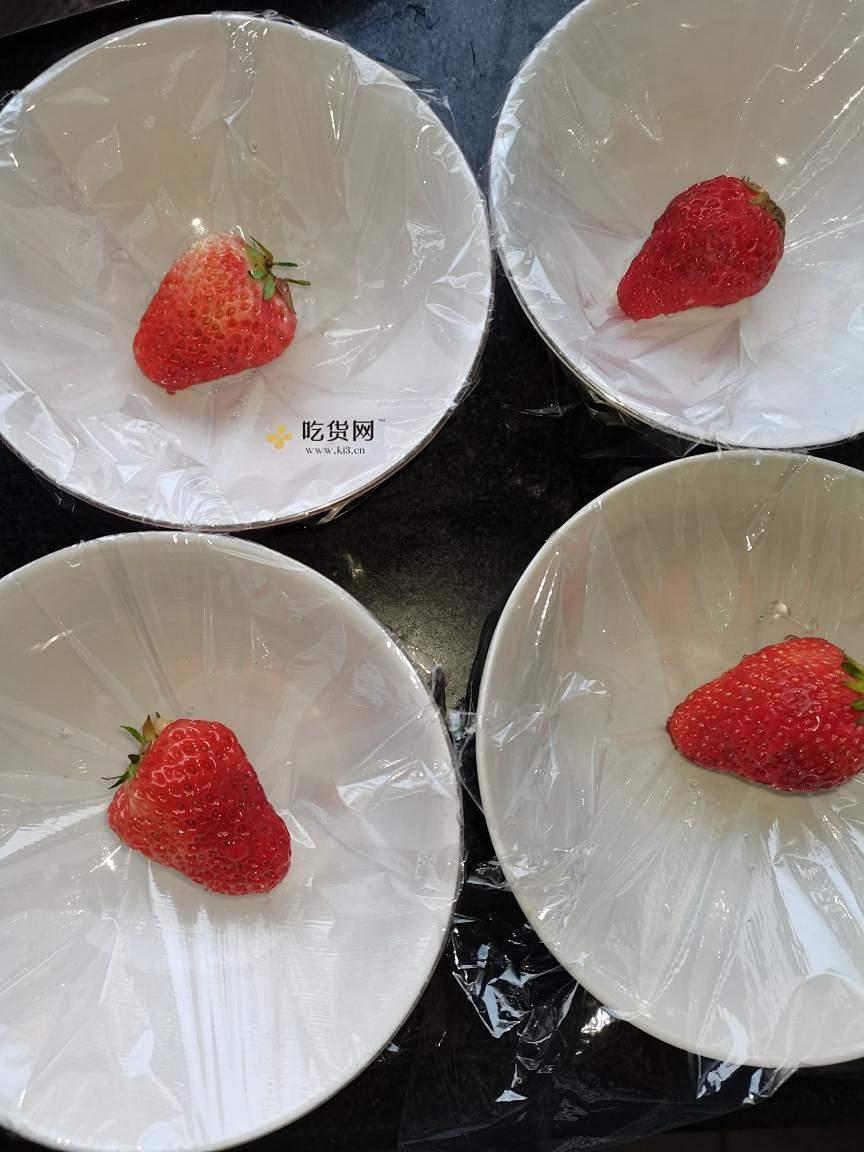 梦幻草莓果冻包子(草莓果冻 草莓白凉粉果冻)的做法 步骤5