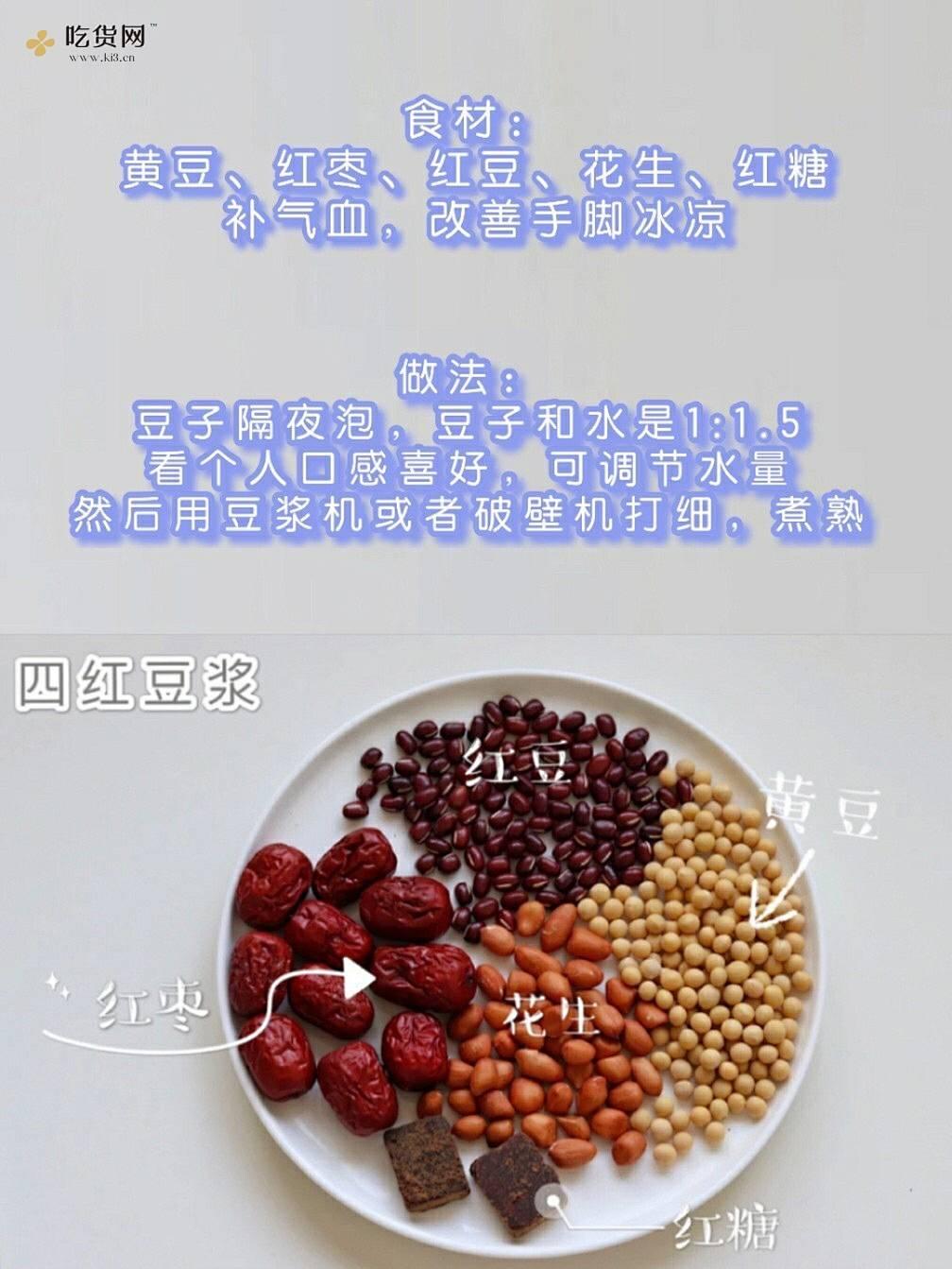 敲简单!一周6款养生豆浆食谱|早餐搭配的做法 步骤1