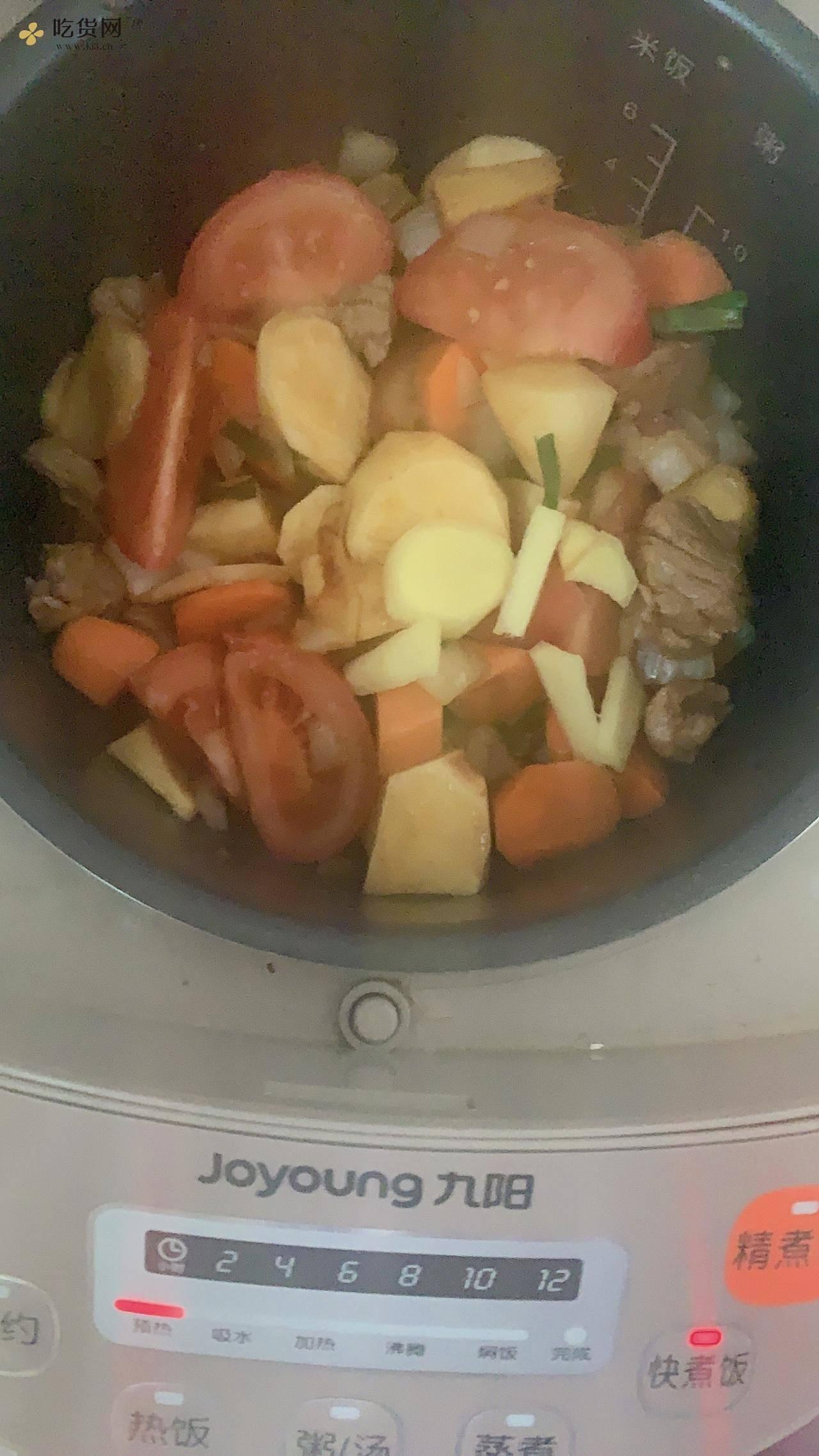 上班族快手减肥餐之电饭煲土豆牛肉粒的做法 步骤7