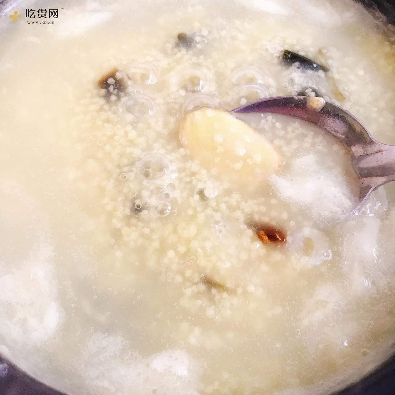 火腿皮蛋小米粥的做法 步骤7