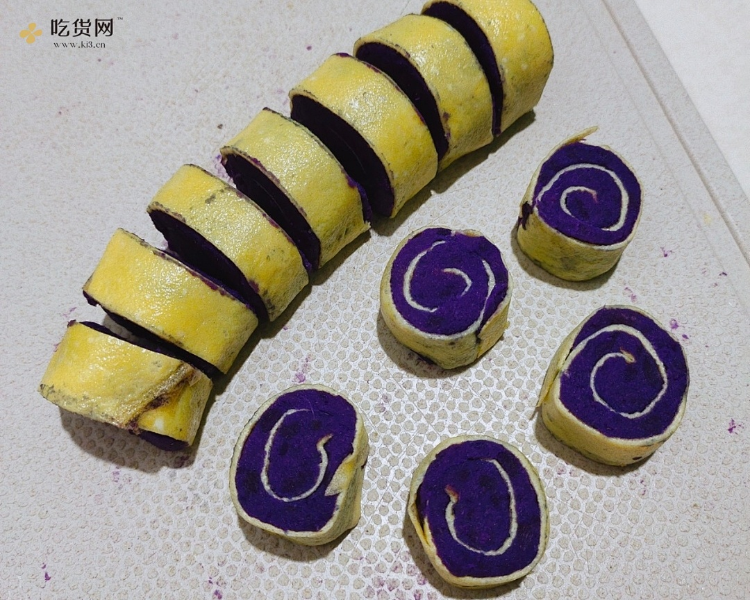奶香紫薯鸡蛋卷的做法 步骤6