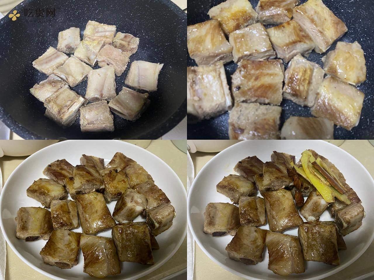 百香果烧排骨(果香版糖醋排骨)的做法 步骤2