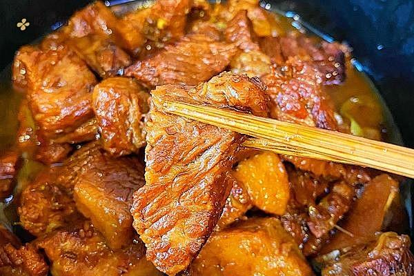 红烧牛肉(无敌简单,红烧任何肉,拌饭绝佳)的做法步骤图缩略图