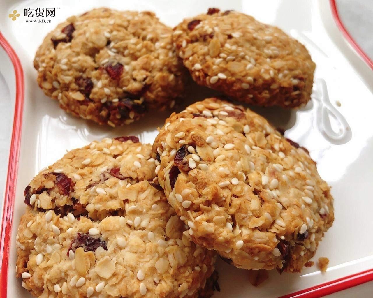 低卡零食 蜂蜜柠檬燕麦饼干的做法 步骤8