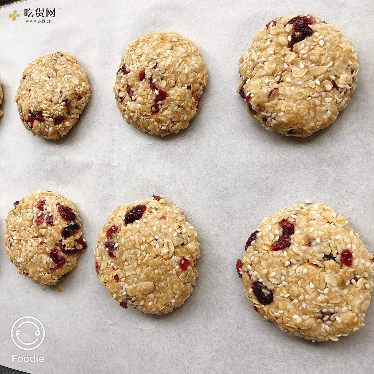低卡零食 蜂蜜柠檬燕麦饼干的做法 步骤7