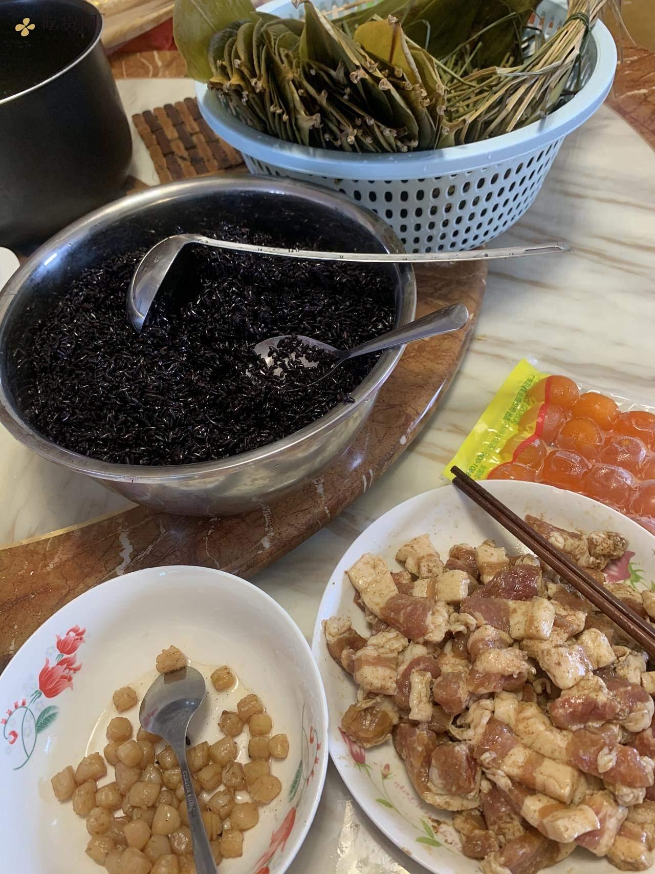 黑糯米粽子的做法 步骤4