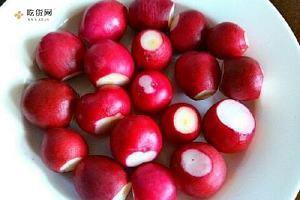 糖醋樱桃萝卜花的做法,糖醋樱桃萝卜花怎么做缩略图