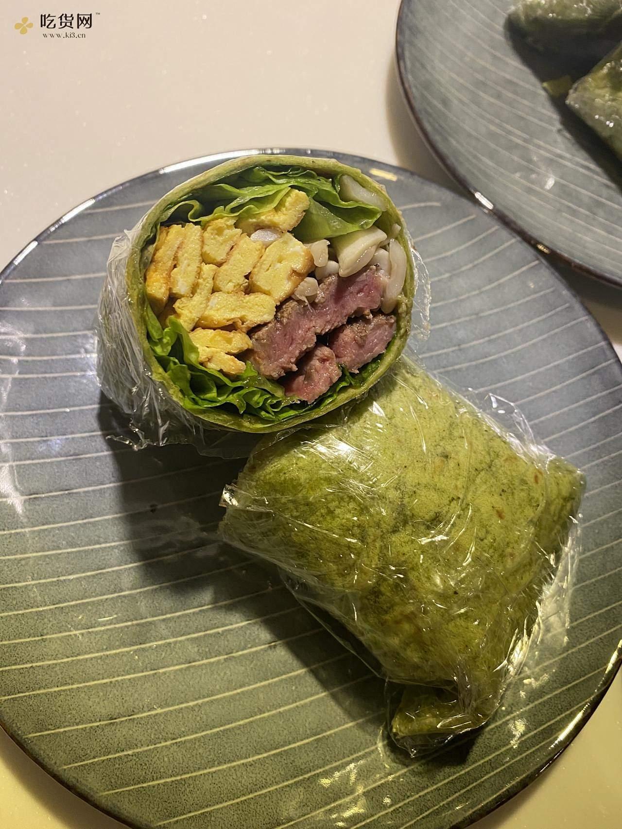 菠菜牛肉卷饼的做法 步骤7