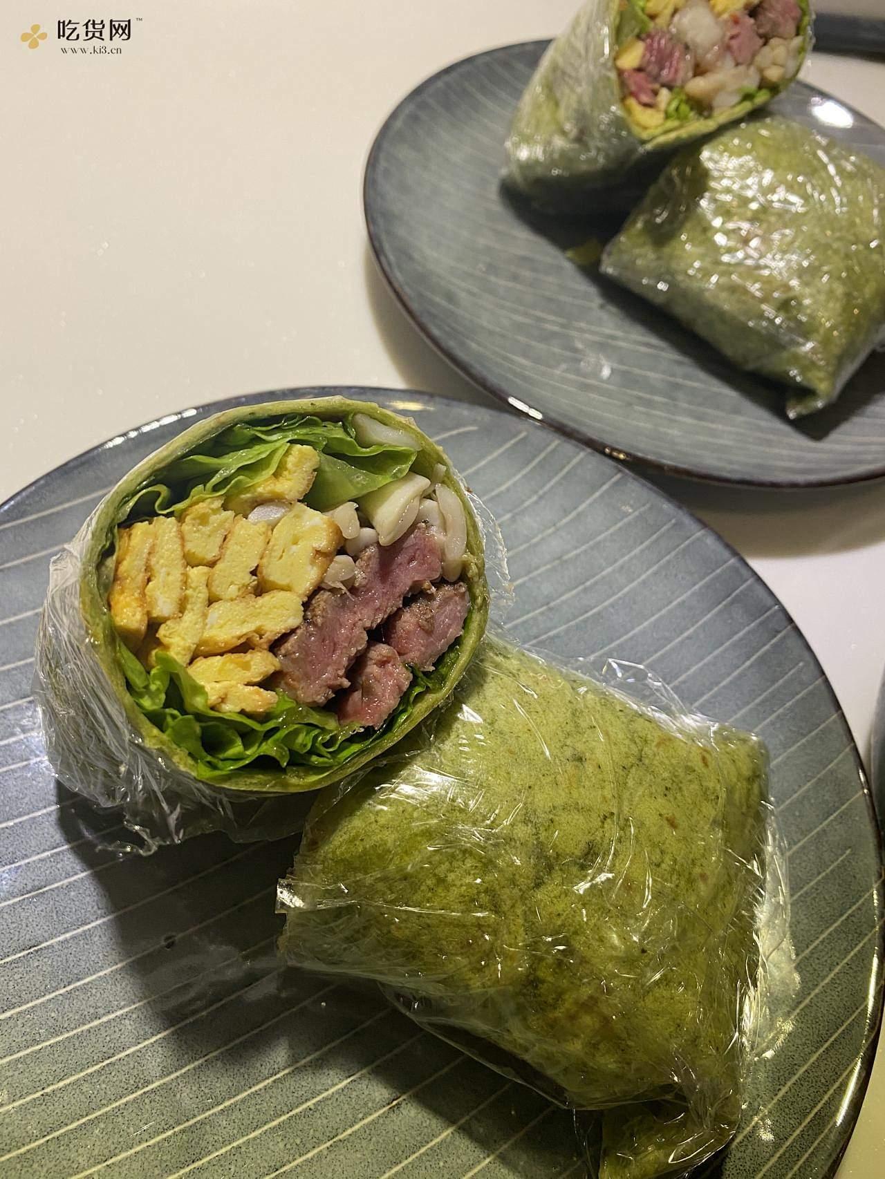 菠菜牛肉卷饼的做法 步骤8
