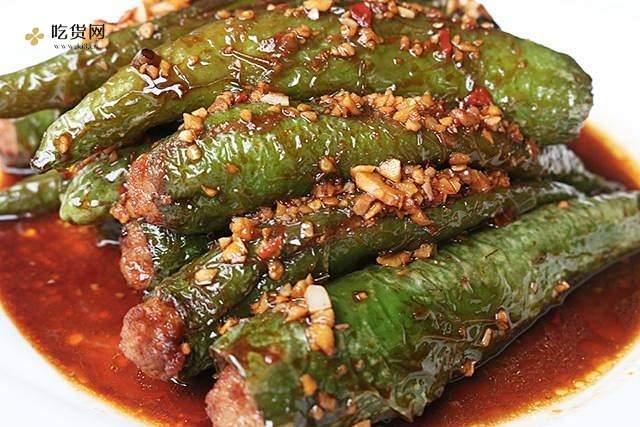 肉酿虎皮青椒的做法 步骤6
