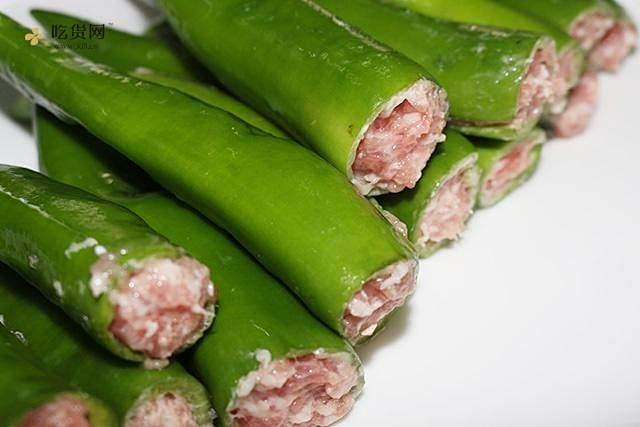 肉酿虎皮青椒的做法 步骤3