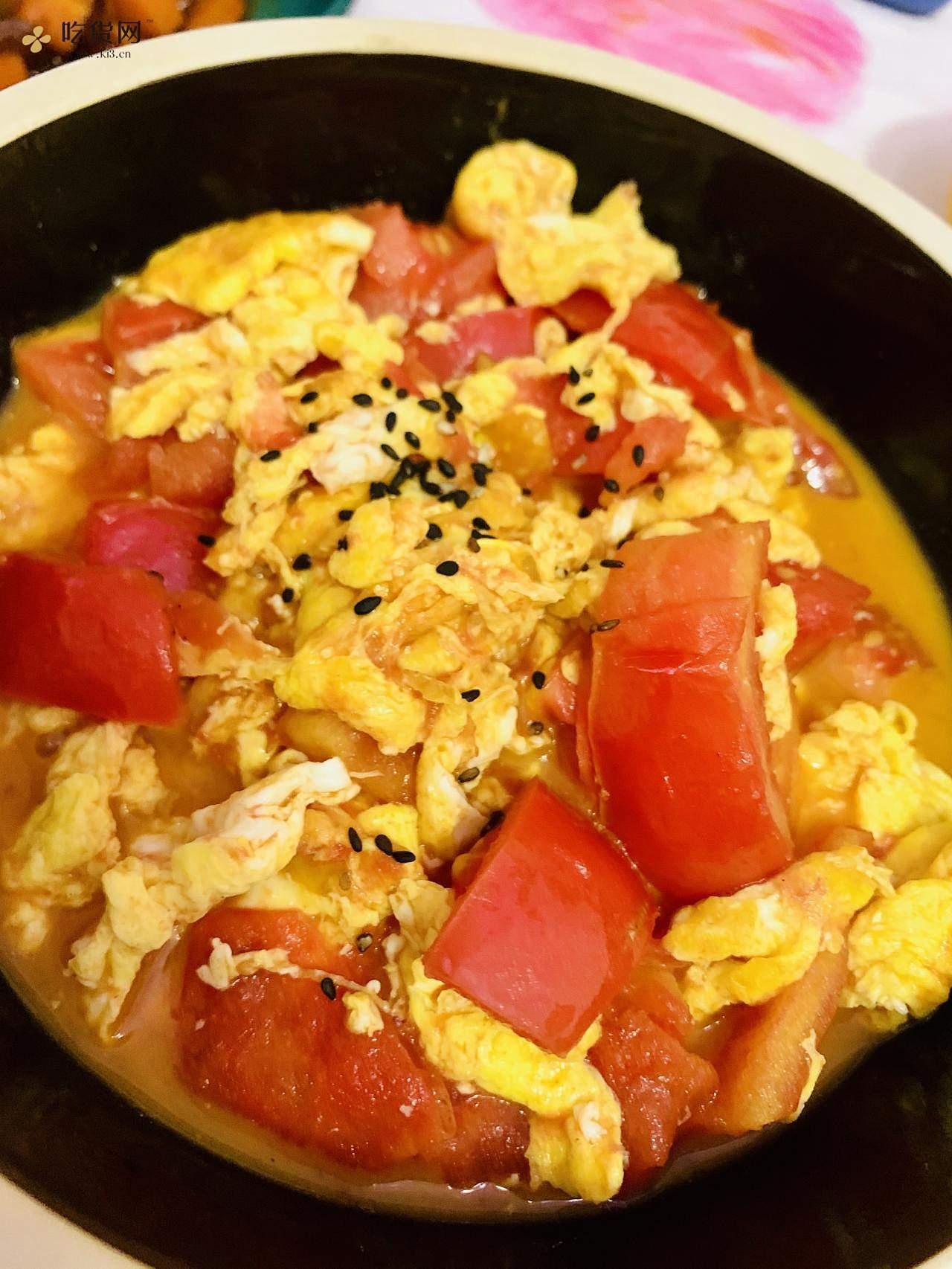减肥餐美容补维生素西红柿炒鸡蛋的做法 步骤7