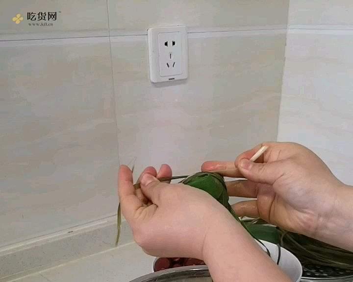 牛角粽包法的做法 步骤8