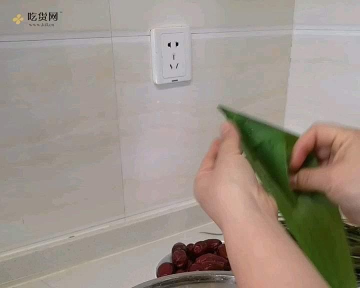 牛角粽包法的做法 步骤3