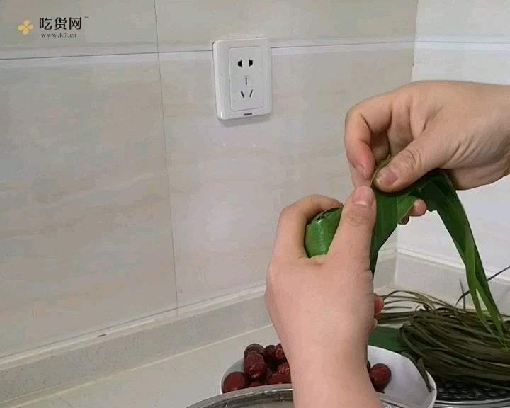 牛角粽包法的做法 步骤6