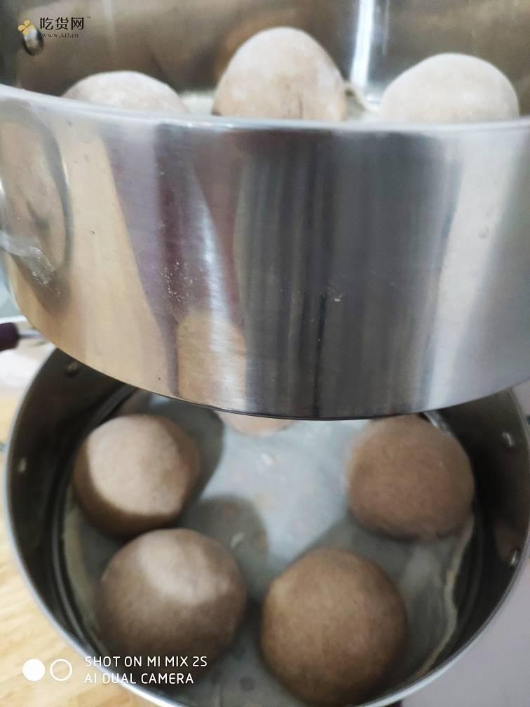 减肥餐黑全麦紫薯馒头的做法 步骤4