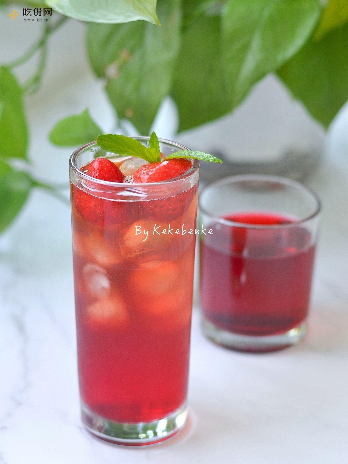 莓莓白茶冰饮的做法 步骤5