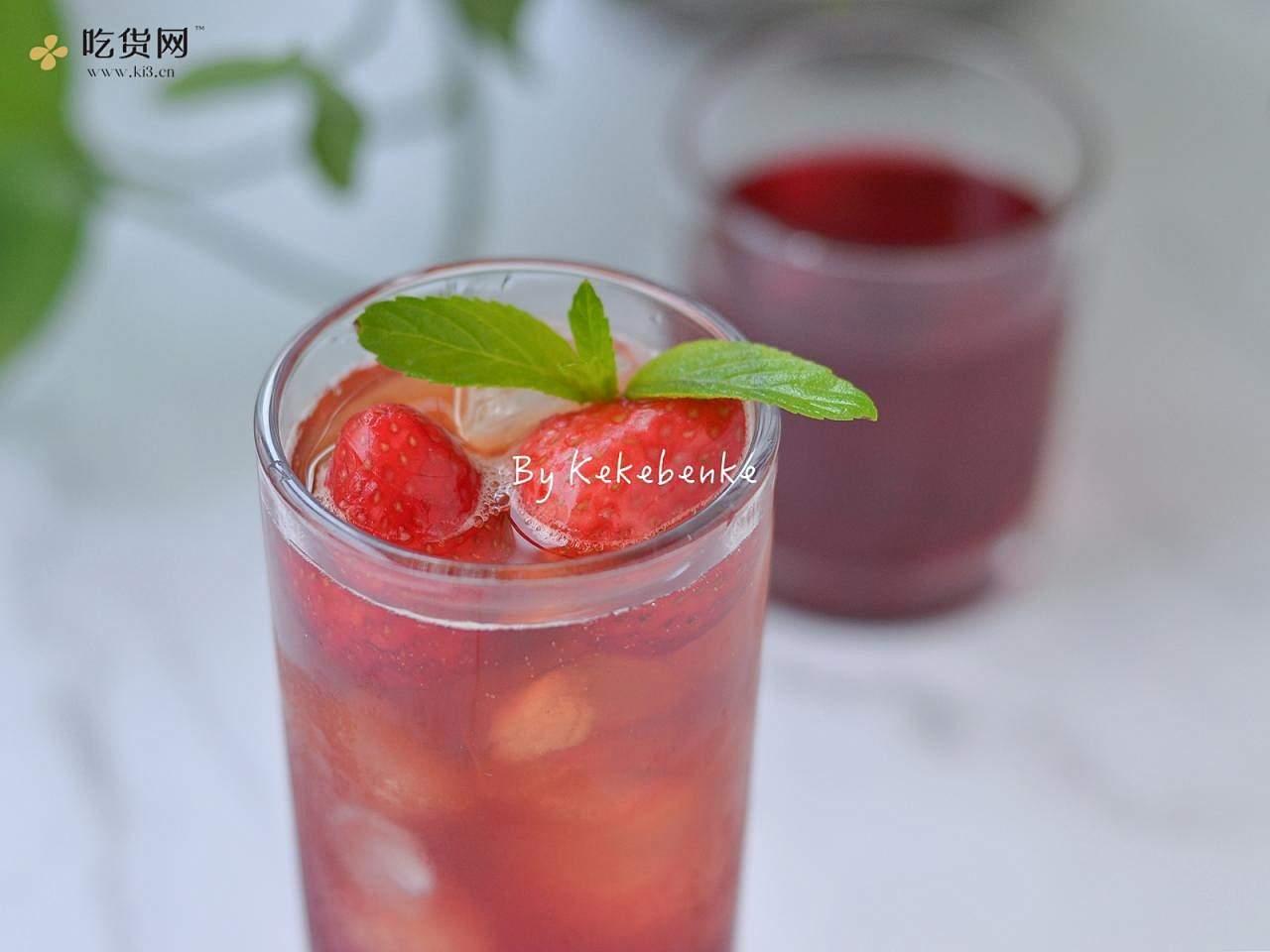 莓莓白茶冰饮的做法 步骤4
