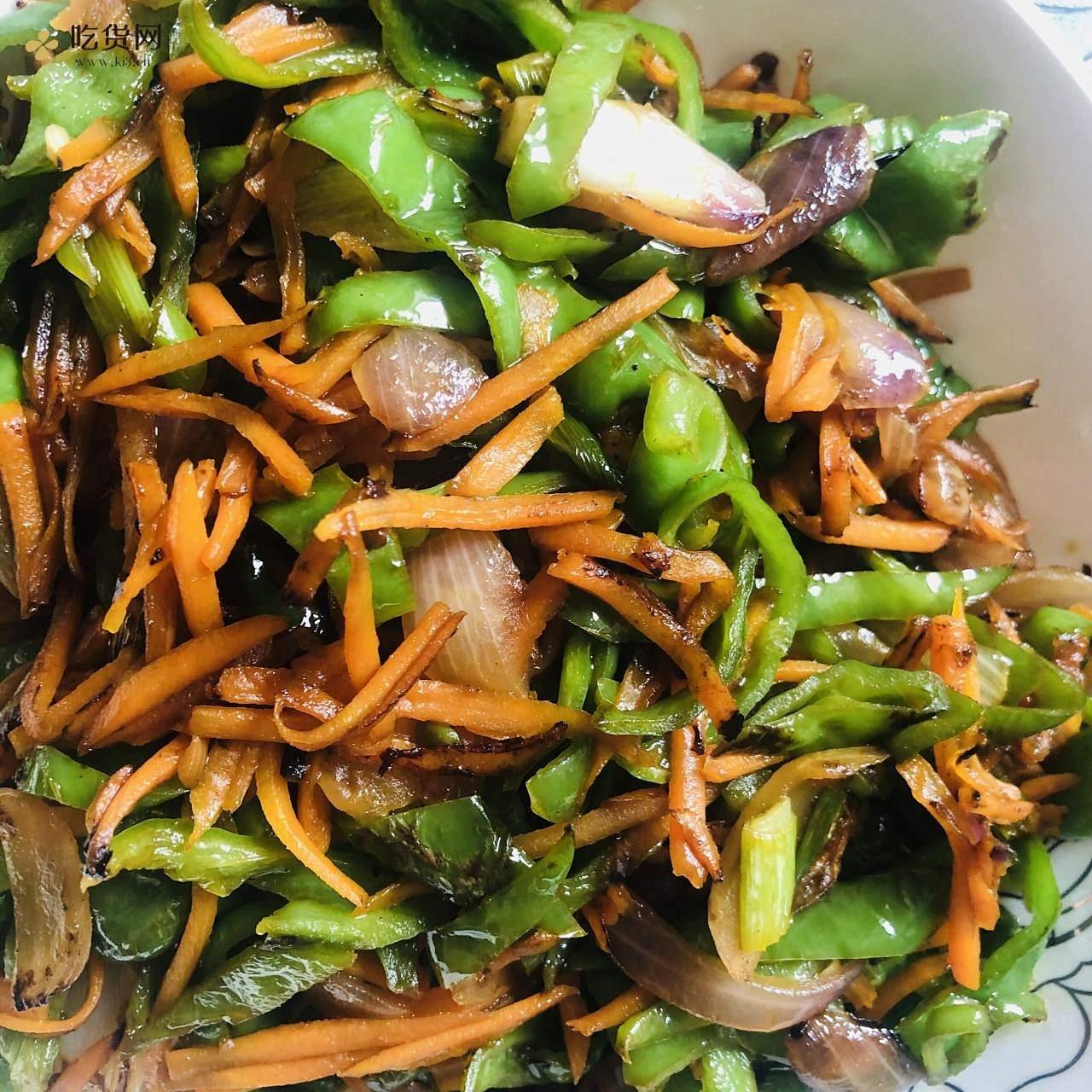 减肥餐-红萝卜炒青椒的做法 步骤11