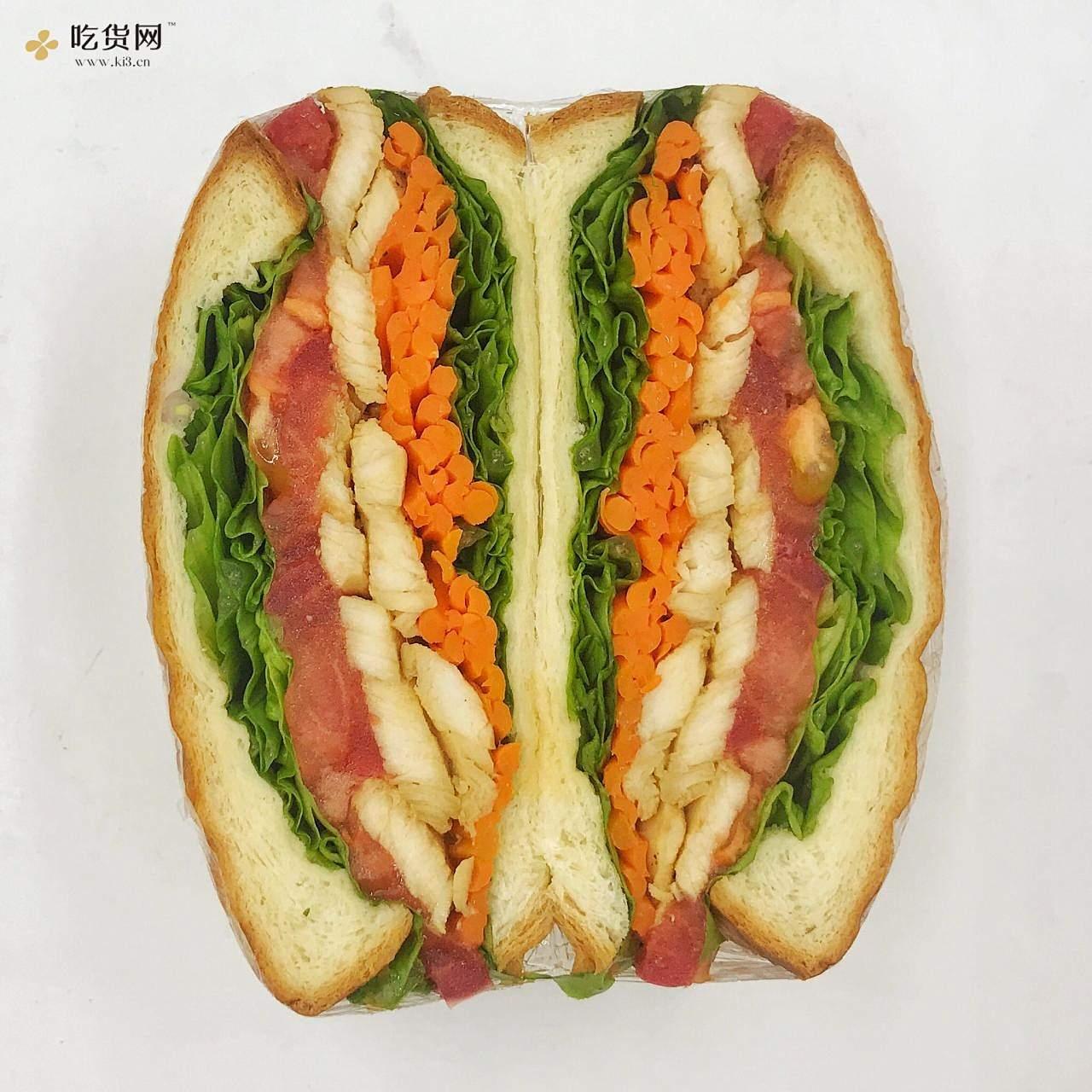 7天不重样系列之低卡减脂三明治的做法 步骤3