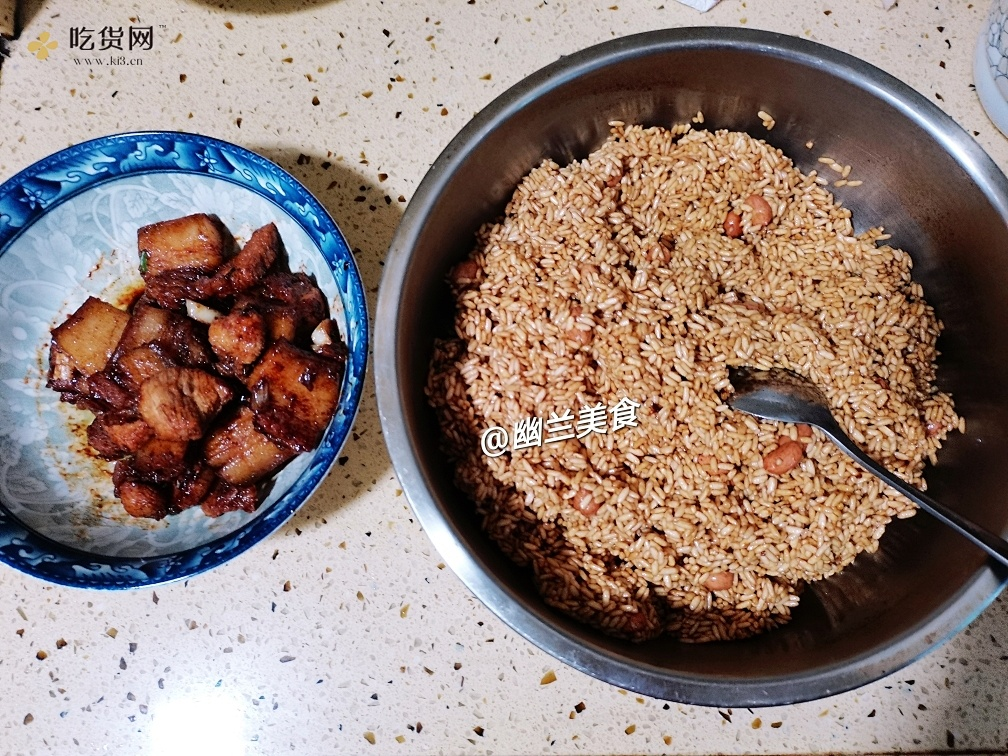 不用泡米,不用腌肉的花生米鲜肉粽(附视频零失败教学)的做法 步骤5