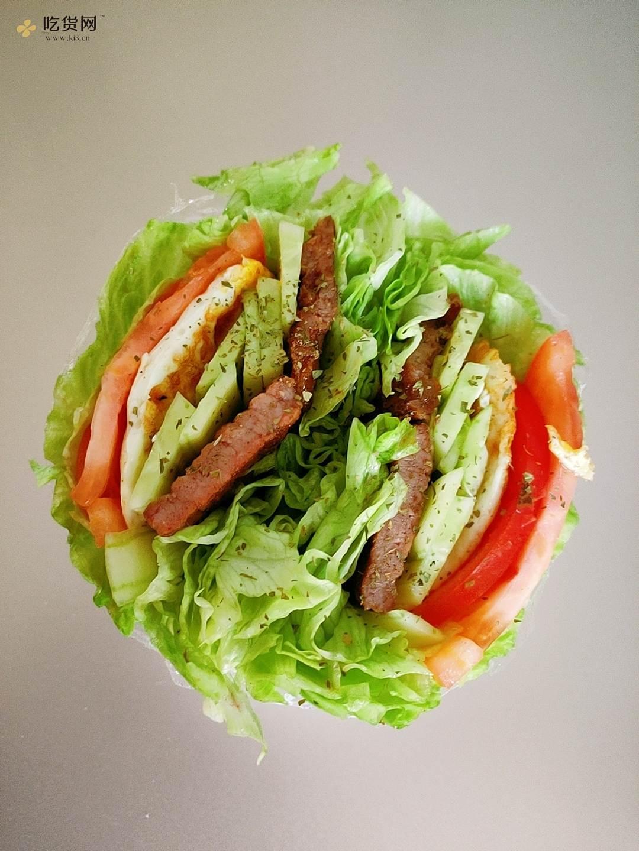 减肥减脂 生菜三明治的做法 步骤3
