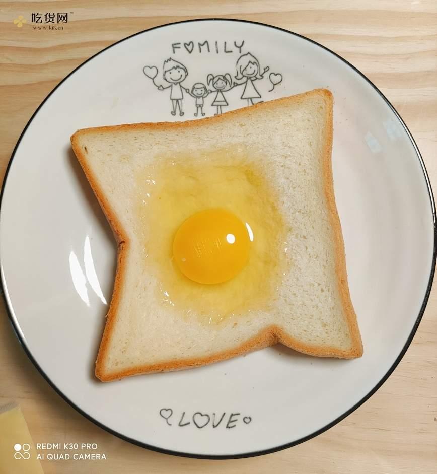 2分钟微波炉早餐☞简易三明治🥪☞上班族懒人必备的做法 步骤2