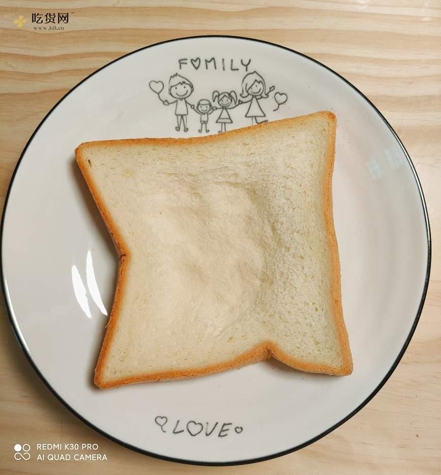 2分钟微波炉早餐☞简易三明治🥪☞上班族懒人必备的做法 步骤1