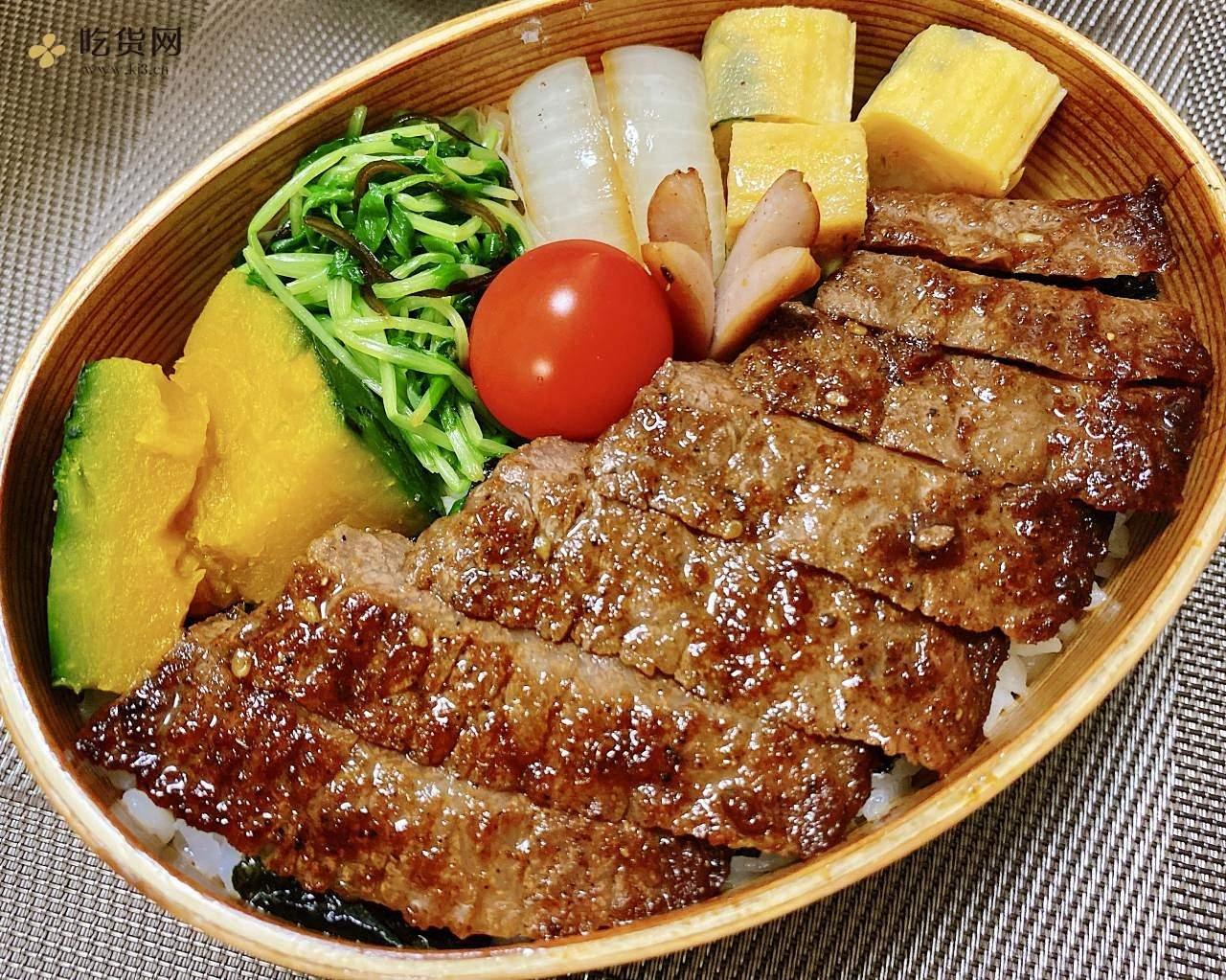 高中生的午餐便当-牛排飯的做法 步骤6