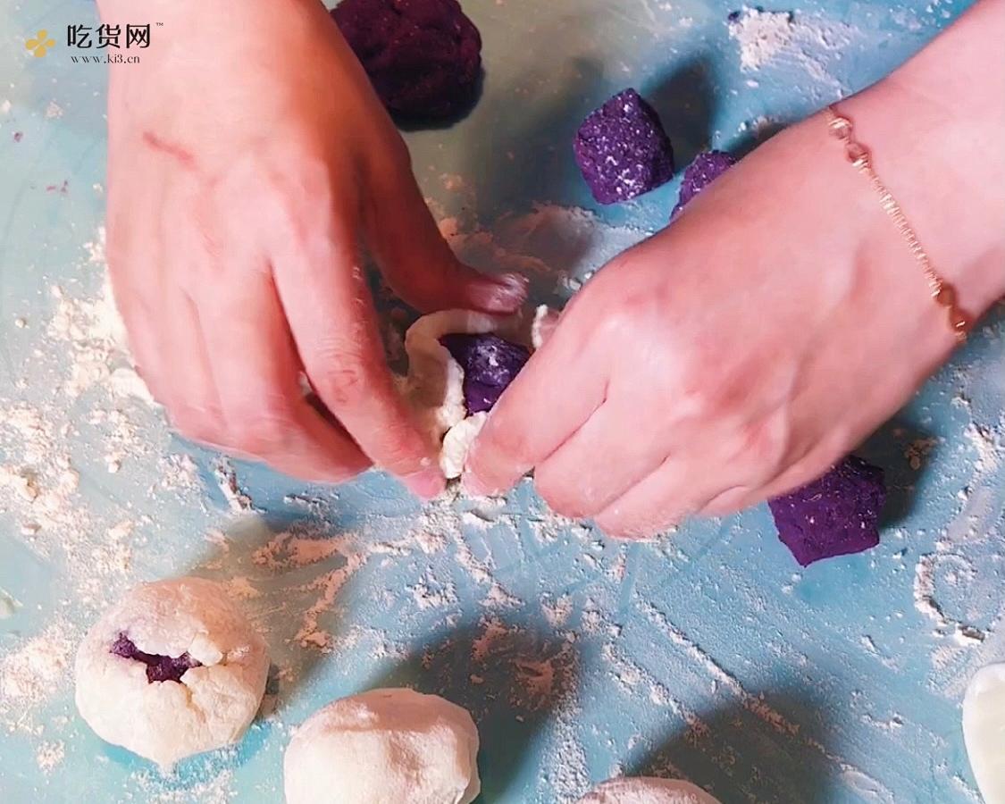 蜂蜜山药紫薯糕的做法 步骤6