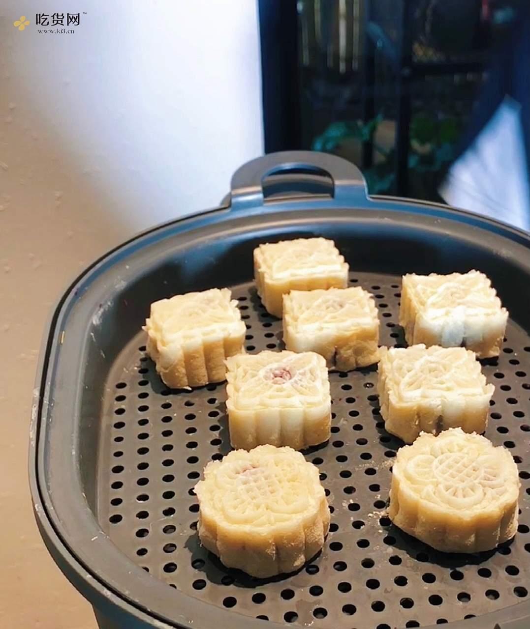 蜂蜜山药紫薯糕的做法 步骤8