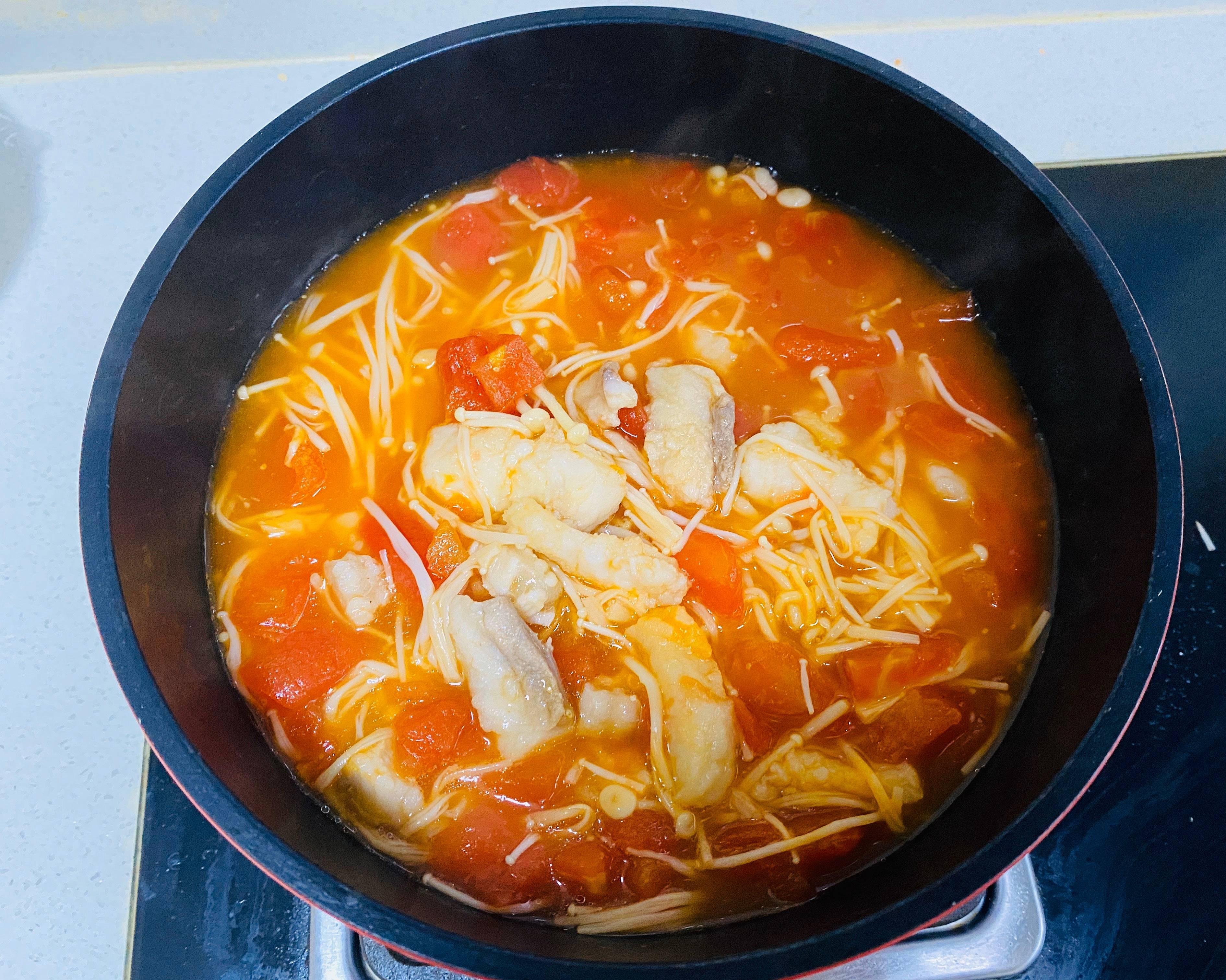 减肥餐-番茄巴沙鱼汤的做法 步骤8