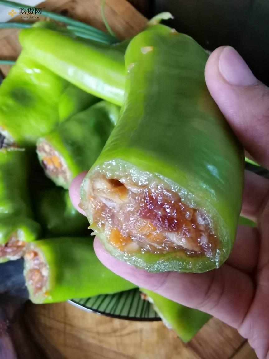 虎皮青椒/青椒塞肉的做法 步骤2