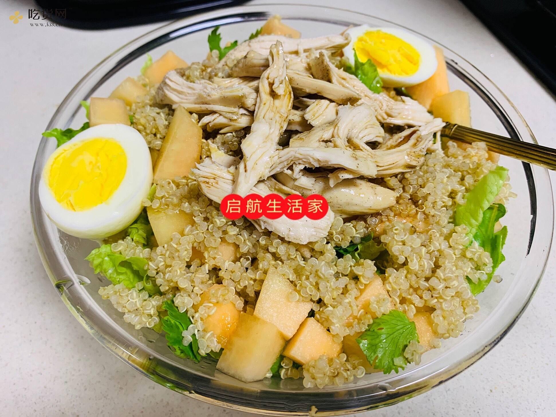 减肥餐,藜麦鸡胸沙拉的做法 步骤9