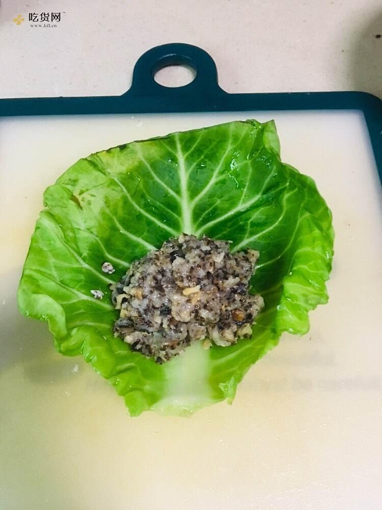 肉酿包菜卷(减肥餐)的做法 步骤3