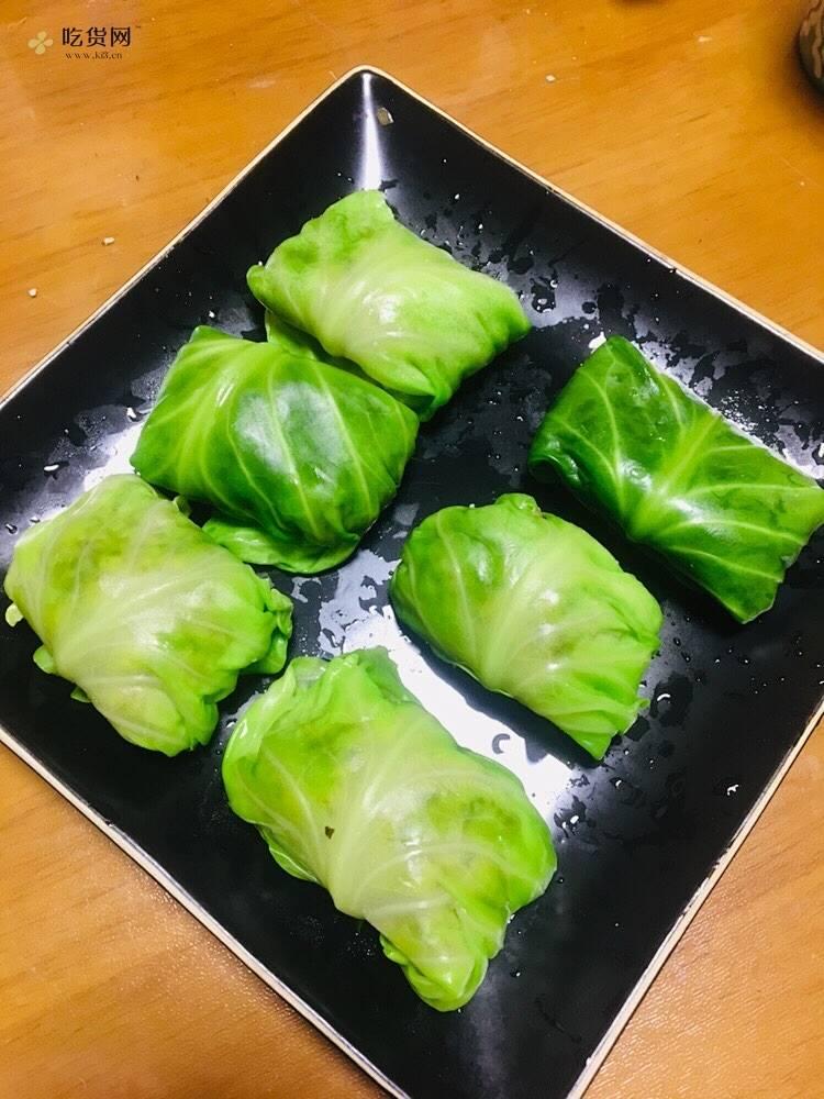 肉酿包菜卷(减肥餐)的做法 步骤4