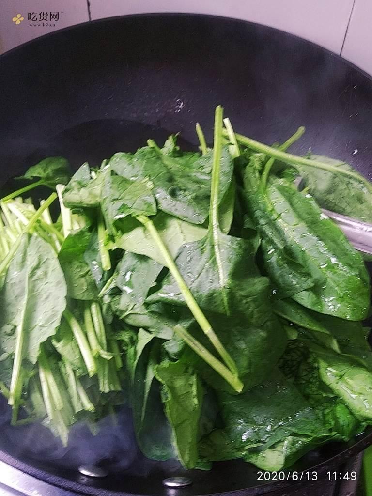 炝菠菜~家常菜~减肥餐的做法 步骤7