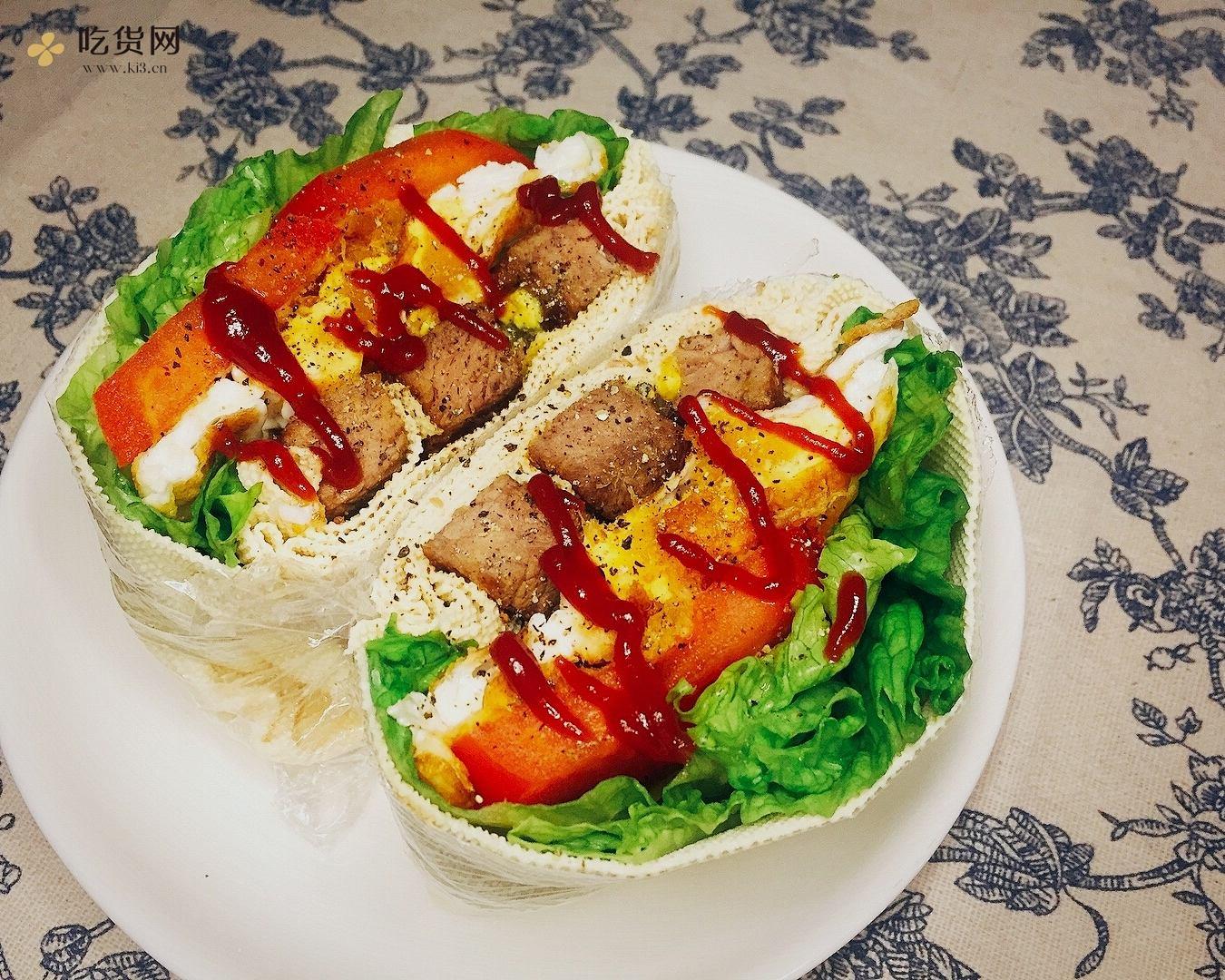 #减脂餐#  蔬菜千张版 KFC嫩牛五方的做法 步骤5