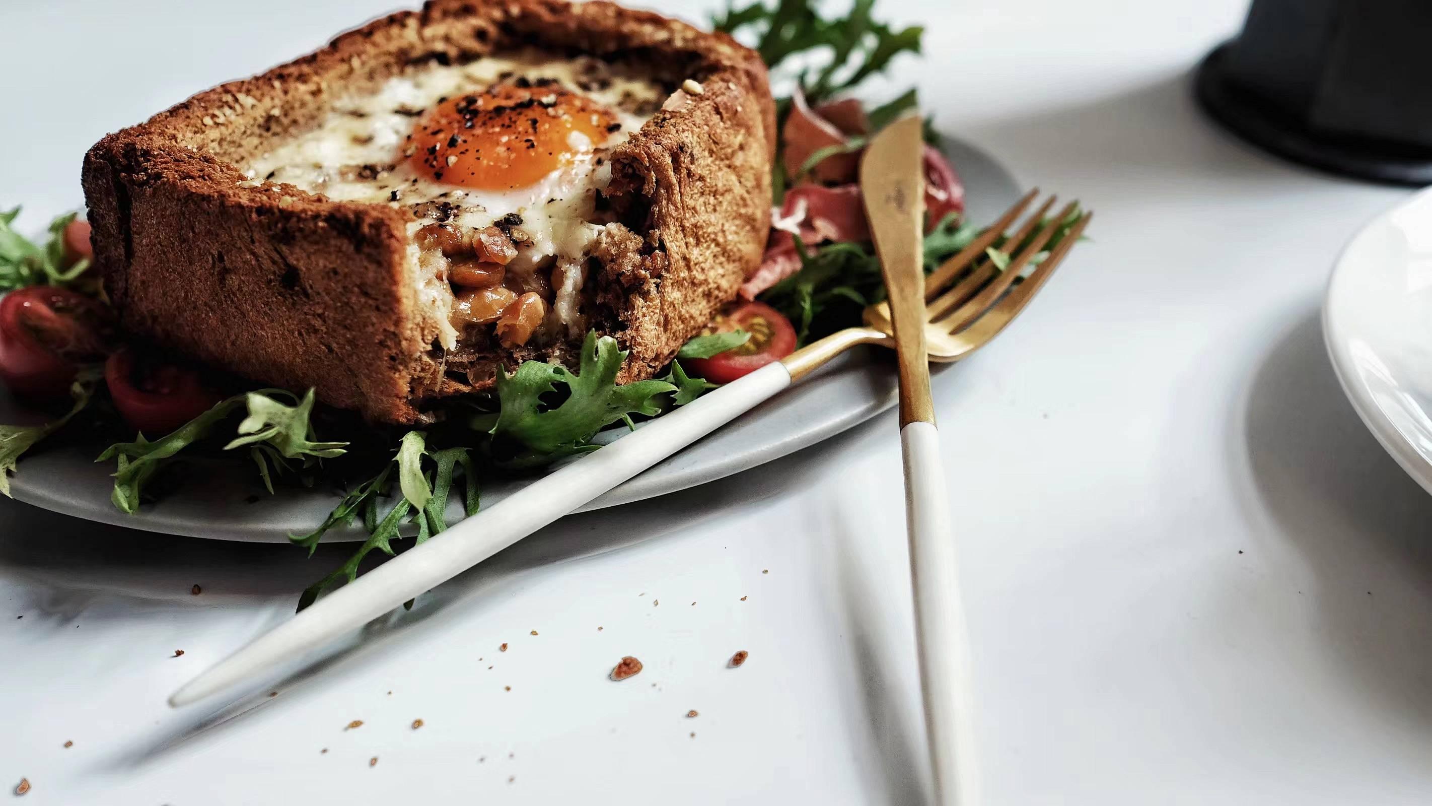 无处安放的蛋焗多味吐司盒的做法 步骤4