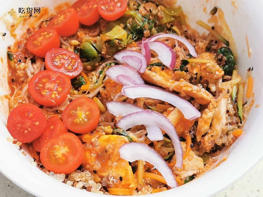 减肥餐-韩式藜麦鸡胸肉拌饭的做法 步骤20