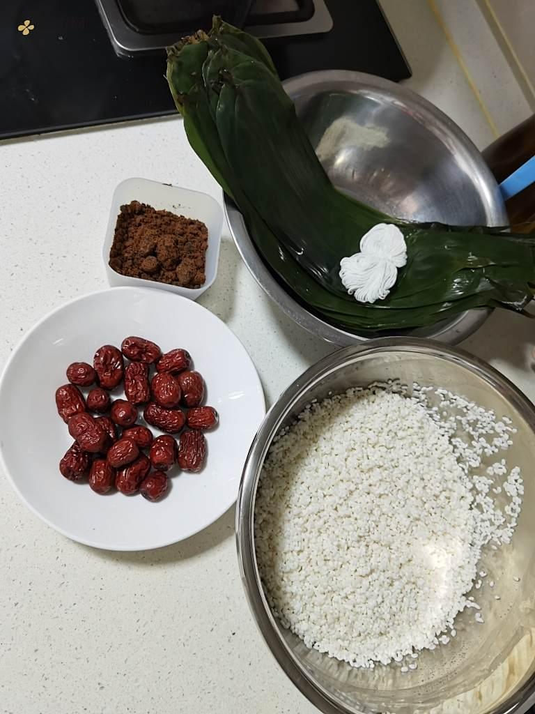 糯米蜜枣粽子的做法 步骤1