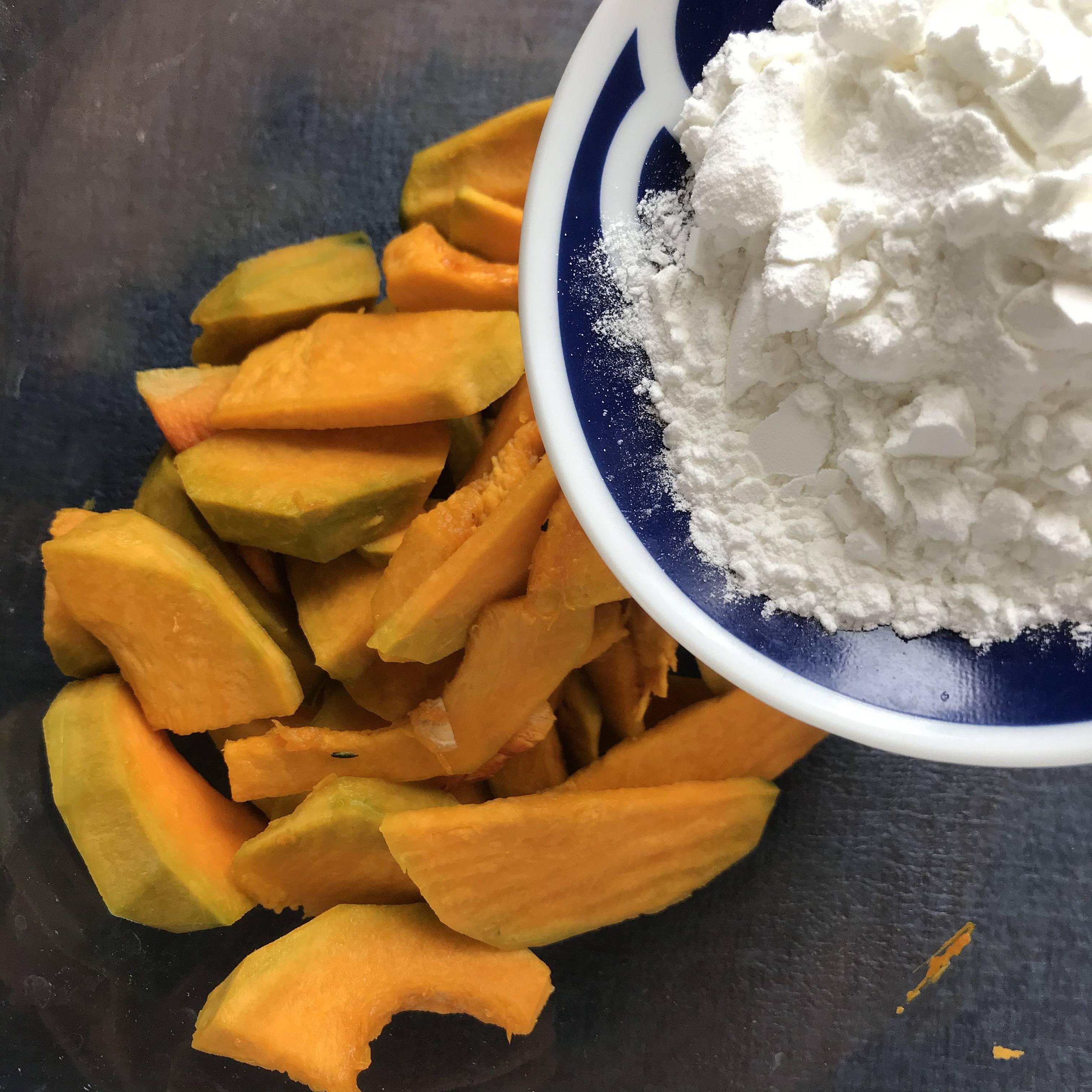 低卡 蛋黄焗南瓜-快手咸甜减肥餐的做法 步骤3