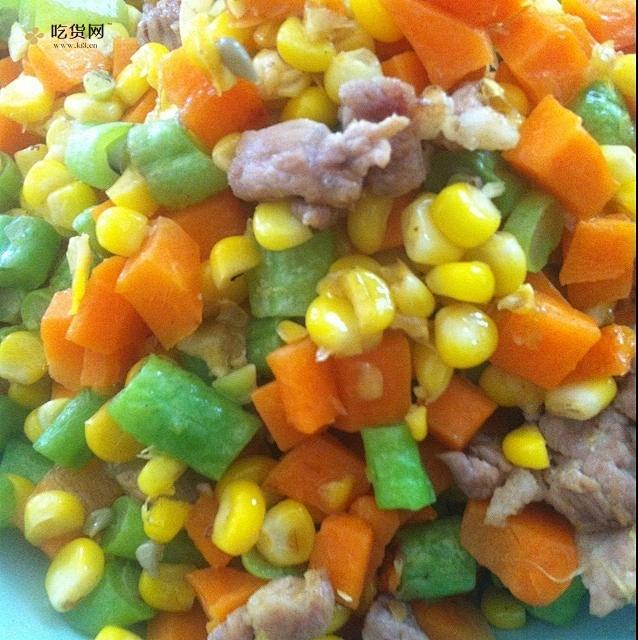 减肥餐之低脂蔬菜粒的做法 步骤1