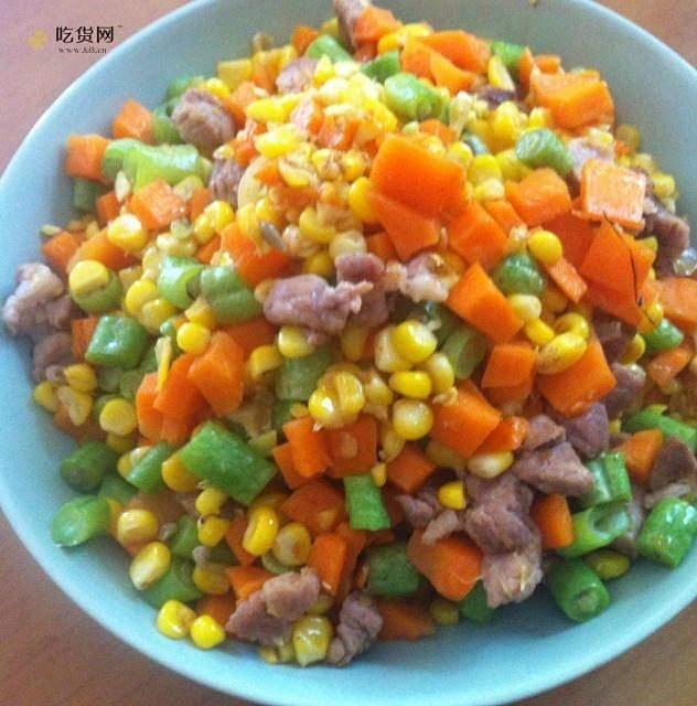减肥餐之低脂蔬菜粒的做法 步骤2